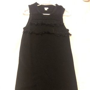 Jcrew crochet black dress